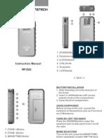 Manual Radio Portatil RPD22GREY