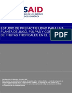 Estudio de Prefactiblidad para una Planta de Jugo, Pulpas y Concentrados de Jugos