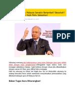 Beban Tugas Guru Malaysia Semakin Bertambah