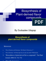 Biosynthesis of Plant Derived Flavour
