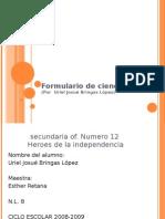 Formulario de ciencias 2