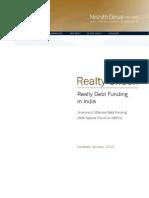 Realty Debt Funding in India