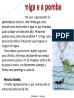 Fabula La Fontaine Formiga Pomba