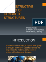 NON DESTRUCTIVE TESTING OF CONCRETE STRUCTURES PPT