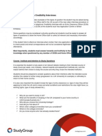 Study Group Guide to Home Office Credibility Interviews