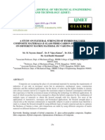 A Study on Flexural Strength of Hybrid Polymer Composite Materials _e Glass Fib