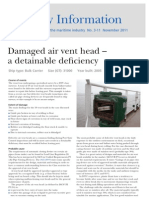 Damaged Air Vent Head