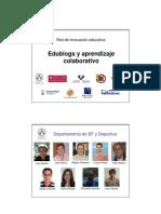 Edublogs y aprendizaje colaborativo (presentación reunión septiembre 2013)