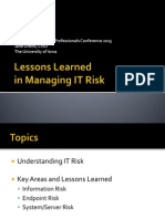 Lessons Learned in Managing IT Risk (166233537)