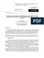 Water Use Management Considering Single and Dual Crop Coefficient Concept Un
