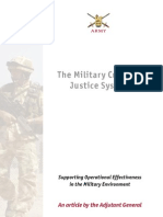 Military Criminal Justice System in UK