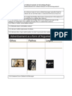 Cross-Cultural Analysis of Advertising Project Worksheet