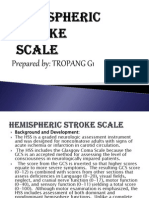 Hemispheric Stroke Scale by G1