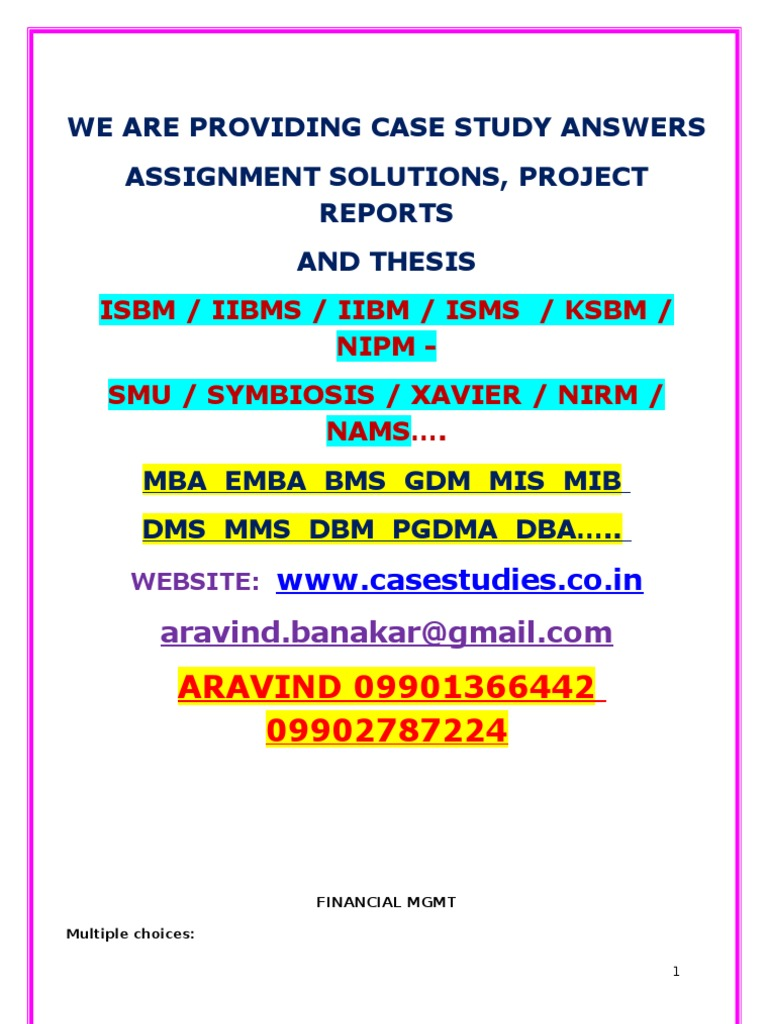 Case study dissertation exchange rate management