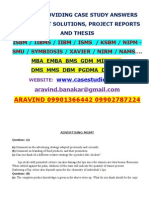 IIBMS / ISBM / KSBM / IIBM / ISMS /  Case Study Answers