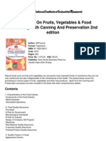 Hand Book on Fruits, Vegetables &Amp; Food Processing With Canning and Preservation 2nd Edition