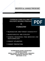 Forestry masters degree syllabus