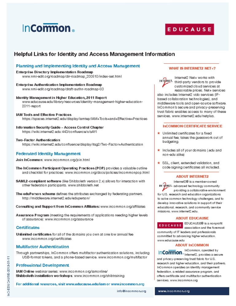 Leadership Discussion Identity And Access Management In Higher