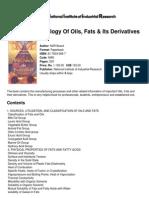 Modern Technology of Oils, Fats &Amp; Its Derivatives