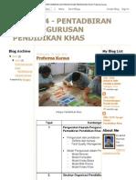Pku 3114 - Pentadbiran Dan Pengurusan Pendidikan Khas_ Proforma Kursus