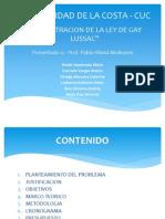 Demostracion de La Ley de Gay Lussac