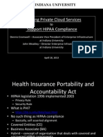 Providing Private Cloud Services to Support HIPAA Compliance  (166256228)