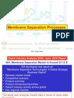 Membrane Processes Introduction & Bascis August 2010