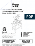 Craftsman Miter Saw LaserTrac