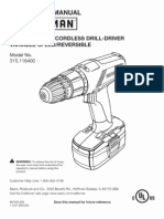 Craftsman C3 Drill Users Manual