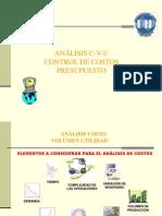 Analisis Cvu Control Costos y Presupuesto