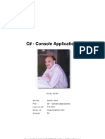 C Sharp Console Applications