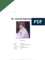 C Sharp Console Applications