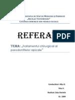 Clasificarea Metodelor de Chirurgie Endodontica
