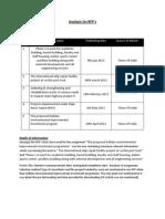 Analysis on RFP