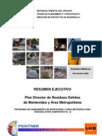 05a-Plan Director de Residuos Sólidos de Montevideo y Area Metropolitana - resumen_ejecutivo - Nov. 2004