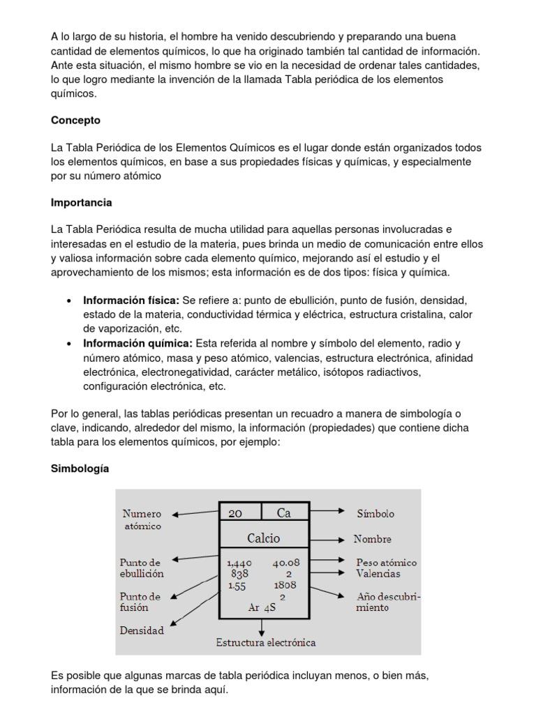 concepto tabla peridica - Tabla Periodica De Elementos Quimicos Definicion