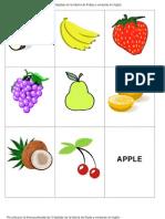 Evaluacion Frutas Ingles
