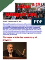 Noticias uruguayas sábado 7 de setiembre del 2013