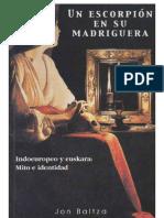 JON BALTZA_UN ESCORPIÓN EN SU MADRIGUERA. Indoeuropeo y euskera