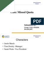 Missed Quota