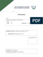 Capa e Programa Organizacao e Gestao Curricular PL