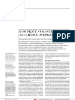 How Proteins Move Lipids and Lipids Move Proteins