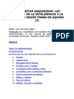 Juan Fernando Sellés- Los hábitos adquiridos segun Tomás de Aquino