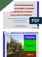 02 Sistema de Recomendaciones Semanales de Riego Utilizando Parametros Del Continuo Suelo Planta Atmosfera