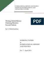 BALACHANDRAN, G. Writing Global History. Claiming Histories Beyond Nations