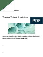 Tips para Tesis de Arquitectura _ Mi inspiración