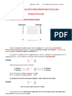 Tema 8 Magnitudes Proporcionales - Porcentajes