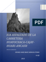Eia Asfaltado de La Carretera Huayochac