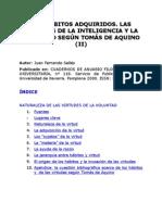 Juan Fernando Sellés- Los hábitos adquiridos segun Tomás de Aquino - II