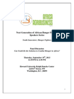 Next Generation of African Hunger Fighters Speakers
